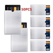 50 PIÈCES RFID Bloqueur Manches Anti-Vol RFID Carte Portefeuille Protecteur RFID Bloquant Manchon Vol D'identité Anti-Balayage Manchon de Carte