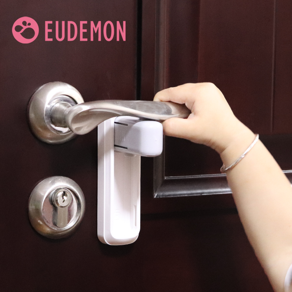 EUDEMON Door Lever Lock,Baby Proofing Door Handle Lock,Childproofing Door Knob Lock Easy To Install And Use 3M VHB Adhesive