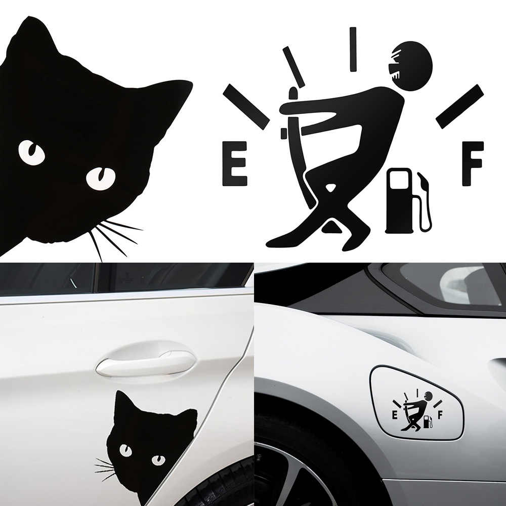 voiture autocollant de voiture stickers for audi a3 voiture 12*15 cm chat visage peering voiture autocollant décalcomanies Pet chat moto autocollants décoratifs voiture fenêtre décalcomanies