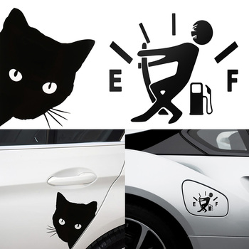 Car Sticker cat face peering Decals Pet Cat Motorcycle Decorative Stickers Car Window Decals 12*15cm image