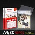 A4 80mic ламинирующей Пленки ламинатор мешок/листы большую защиту для Фотобумага файлы карты фото и видео 50 шт./компл. ламинат Термальность