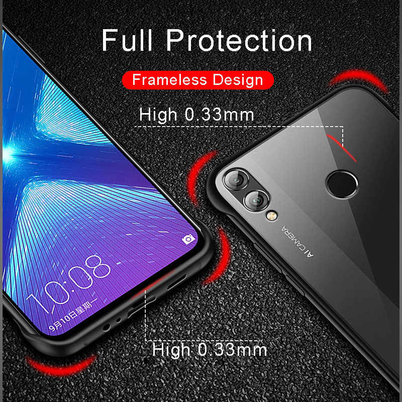 Honor 8X Case Frameless Matte Transparent Cover For Huawei Honor 8 X Case Silicone Protective Bumper For Huawei Honor 8X Cases