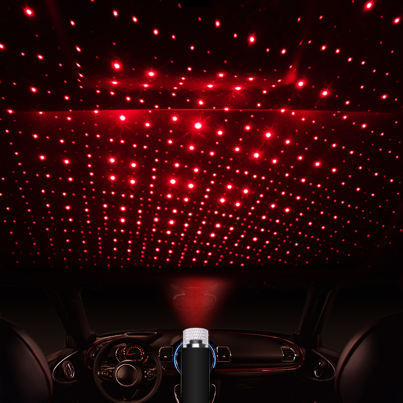Universal Mini LED Car Roof Star Night Ceiling Lights Projector Light Interior Ambient Atmosphere Galaxy Lamp Decoration Light