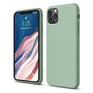 Мягкий Жидкий официальный силиконовый чехол для iPhone 11 Pro Max 8 Plus из микрофибры, Противоударная задняя крышка для iPhone X XR Xs MAX XS - Цвет: Зеленый
