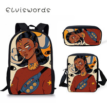 Scool Bag Black Art Afro Girl Backpacks For Teenager Girls Cool Students Notebook School Primary Satchel
