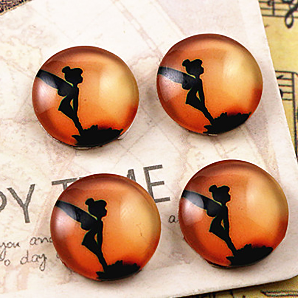 Hot Sale 20pcs 12mm Handmade Cool Style Photo Glass Cabochons  (E6-11)