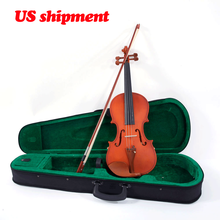 High-grade Handmade acoustic violin Glarry 4/4 Acoustic Matt Violin Case Bow Rosin Strings Shoulder Rest Tuner Natural цены