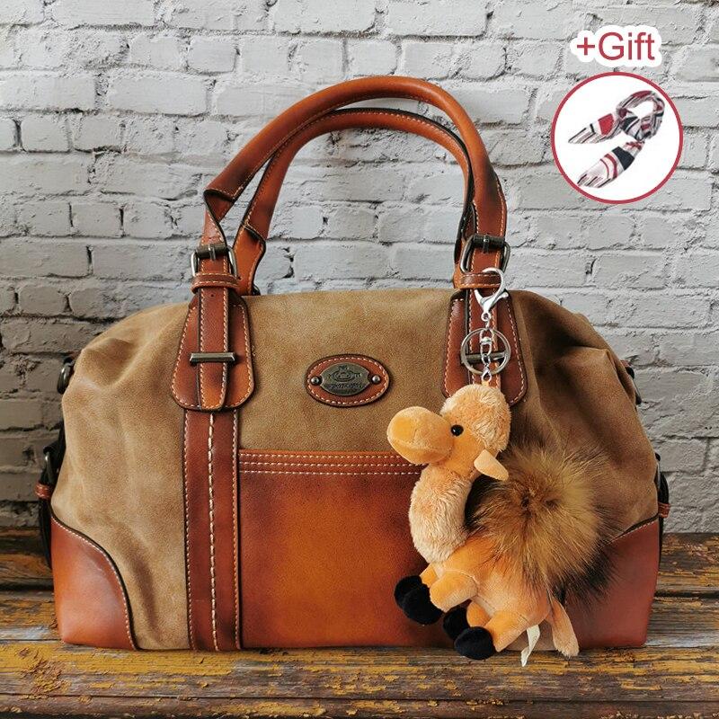 2020 Luxury Genuine Leather Women Handbags Vintage Cowhide Ladies Large Shoulder Bags Quality Female Messenger Bag Casual Totes