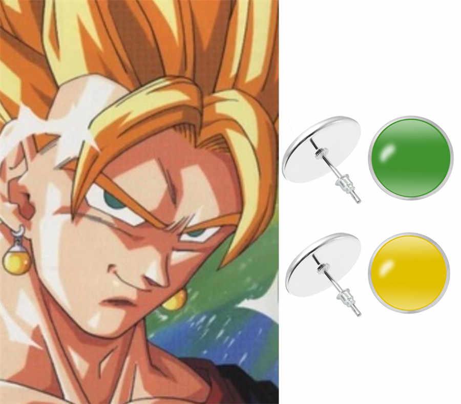 Super Dragon Ball Z Vegetto Potara Zwart Son Goku Cosplay Kostuums Ring Zamasu Oorbellen Ear Stud