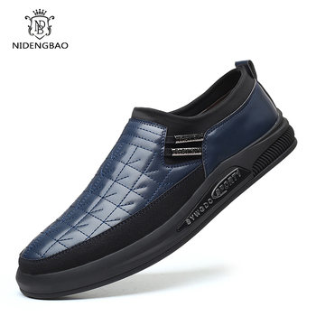 NIDENGBAO Fashion Loafers Men Shoes Sneakers Men's Leather Shoes Men Slip on Men Designer Shoes Zapatos Hombre Casual Footwear fashion leather men casual shoes breathable men sneakers lightweight walking shoes outdoor non slip footwear zapatos de hombre