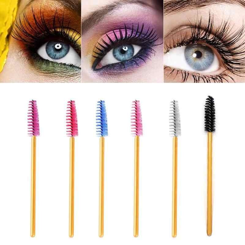 1 Pcs Wimpern Verlängerung Einweg Augenbraue Pinsel Mascara Zauberstab Applikator Spooler Eye Lashes Cosmetic Pinsel Set Make-Up-Tools