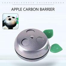 Cuenco de acero inoxidable para Shisha, doble En forma de hoja, 1 Uds., recipiente de carbón, accesorios para Chicha