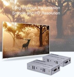 Image 2 - 4K HDMI extensor 100M R/L de salida de Audio de la señal HDMI extensión por Cat5E CAT6 RJ45 Ethernet Cable de vídeo convertidor TX RX de la PC a TV HDTV