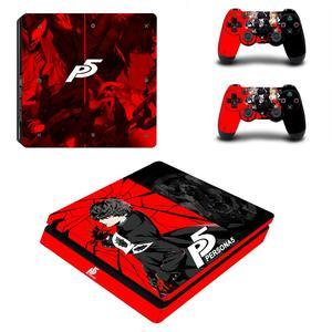 Image 2 - Persona 5 Королевский Полный лицевые панели PS4 тонкая кожа Стикеры наклейка для Игровые приставки 4 консоли и контроллер PS4 тонкая кожа Стикеры винил