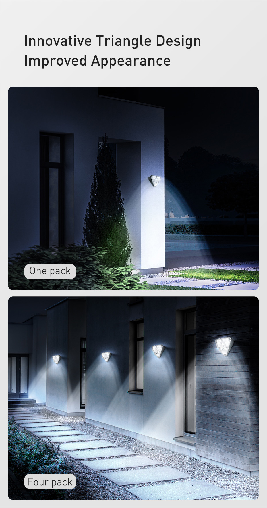 Baseus Outdoor Waterproof LED Solar Light With Motion Sensor 17 Baseus Outdoor Waterproof LED Solar Light With Motion Sensor Love Me Some Gadgets