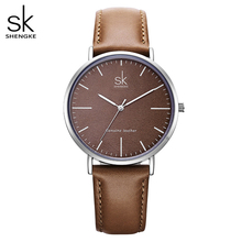 Shengke Genuine Leather Women Watches Leather Surface Quartz Watch Ladies Watches Women Clock Montre Femme Relogio Feminino