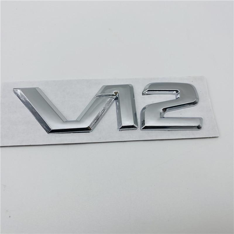 For Mercedes Benz V12 Logo Fender Emblem Badge Sticker Adhesive R129 W140 W220