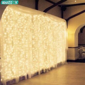 3x3/6x3/9x3m LED Luces De Cadena Cortina Guirnalda De Carámbanos De Navidad De Interior Al Aire Libre De La Iluminación De Boda Fiesta Decoración De Jardín