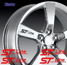 4 pçs st stline etiqueta da roda de carro para ford fiesta mondeo fusão borda escape ecosport kuga foco