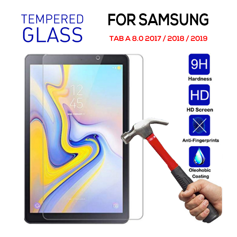 Tempered Glass For Samsung TAB A 8.0 2019 T290 T295 P200 Protective Film Screen Protector For Samsung Tab A 8.0 2017 2018 Cover