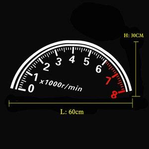 Image 2 - BEMOST Auto Riflettente Auto Lunotto Posteriore Decorazione Tachimetro Sport Cool Car Sticker Adesivi 60*30 centimetri di trasporto accessori Auto Styling