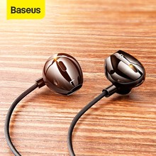 Baseus C06 Bedrade Oortelefoon Type C Bass Stereo Oordopjes Met Microfoon Sport Headset 3.5 Mm Jack Voor Iphone Samsung In  Ear Oortelefoon Bedrade