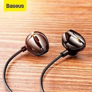 Image 1 - Baseus C06 السلكية سماعة نوع C باس ستيريو سماعات مع هيئة التصنيع العسكري الرياضة سماعة 3.5 مللي متر جاك آيفون سامسونج في الأذن سماعة السلكية