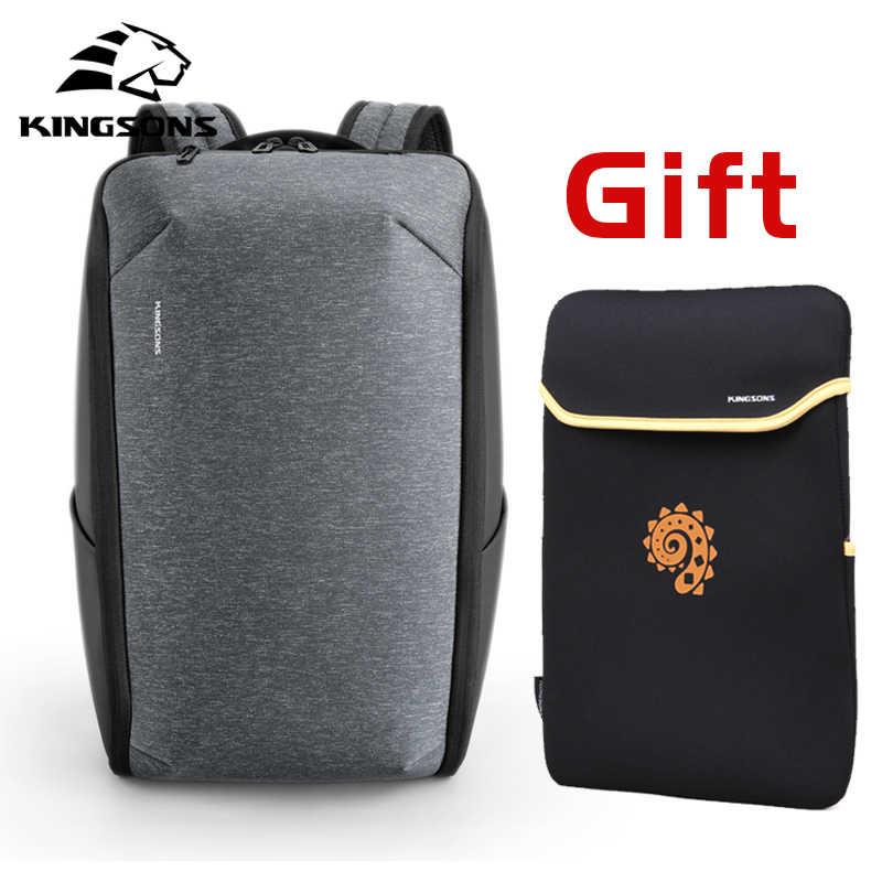 Kingsons, многофункциональные мужские рюкзаки для ноутбука 15 дюймов, Модный водонепроницаемый рюкзак для путешествий, анти-вор, мужские школьные сумки Mochila, хит продаж