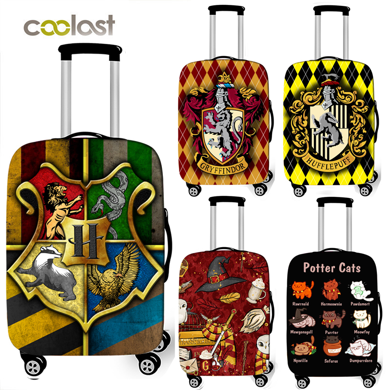 Hogwarts Gryffindor Slytherin Luggage Cover Travel Accessories Elastic Trolley Case Suitcase Cover For 18-32 Inch