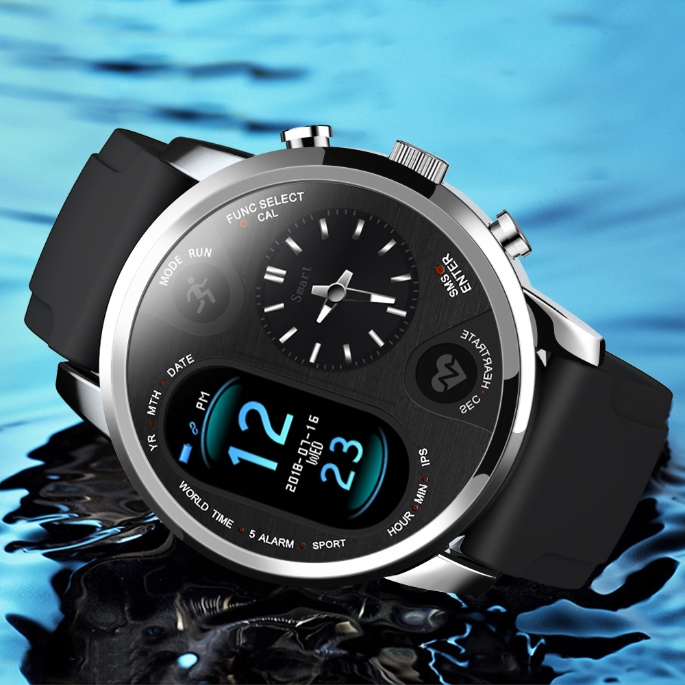 Image 5 - LEMFO Smart Watch Men T3 PRO Dual Time Waterproof IP67 Heart Rate  Bluetooth Activity Tracker Smartwaches Sport  for IOS AndroidSmart  Watches