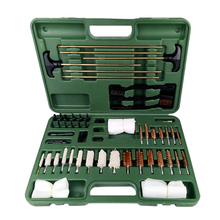 цена на TOtrait 62Pcs Cleaning Tool Kits for Rifles Pistols Pipe Mop Brushes Rust Removal Tools Set Brush Accessories with Carry Case