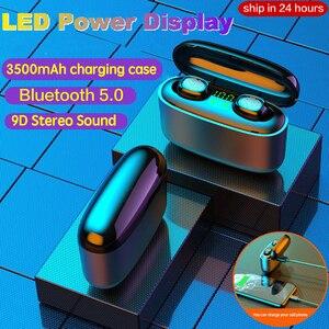 Image 2 - 3500mah LED Bluetooth אלחוטי אוזניות אוזניות TWS מגע בקרת אוזניות ספורט אוזניות רעש לבטל עמיד למים אוזניות