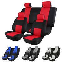 O shi cobertura de assento de carro sanduíche malha material respirável quatro estações universal cinco lugares tampas de assento de automóvel almofada para a maioria dos carros