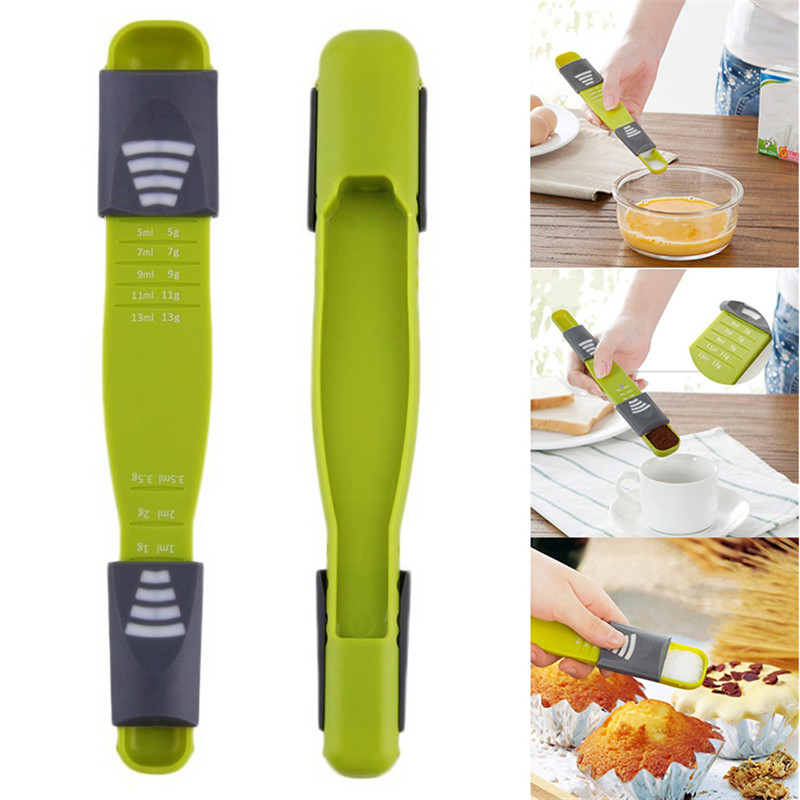 Measure Cup Double End Eight Stalls Adjustable Scale Baking Scale Measuring Spoon Kitchen Tool Accessories