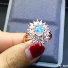 KJJEAXCMY fine jewelry natural opal 925 sterling silver new women gemstone ring support test popular [meibapj natural aquamarine gemstone trendy ring for women real 925 sterling silver charm fine jewelry