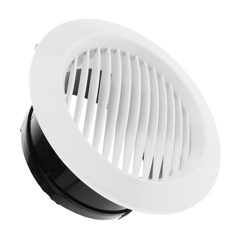 Air Vent Grille Circular Indoor Ventilation Outlet Duct Pipe Cover Cap SNO88