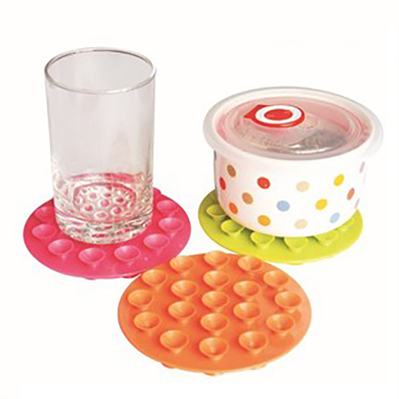 Baby Feeding Bowl Cup Suction Pad Child Anti-slip Safety Double-sided Strong Suction  Mat 3 Colors Dining Fixed Coaster Placemat