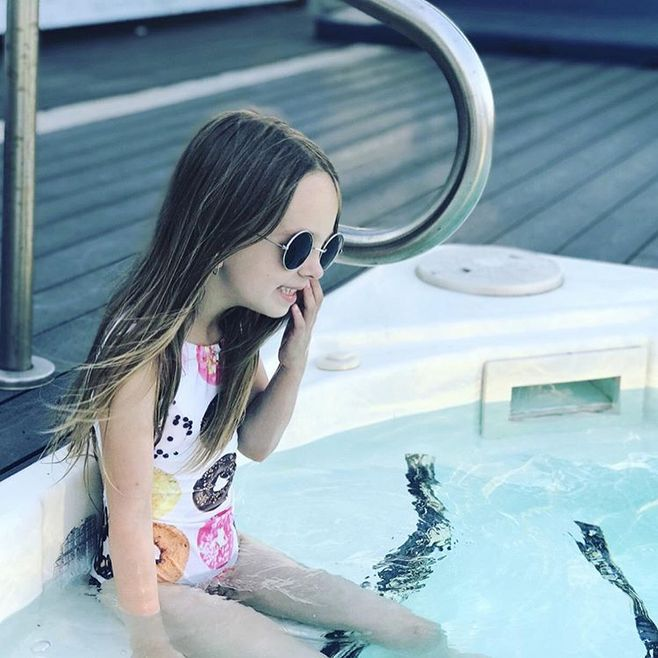 Hot Selling Girls Printed Donut Sleeveless One-piece Swimming Suit