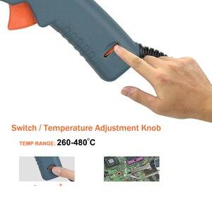 Image 2 - NEWACALOX 110V/220V 60W régulateur température pistolet à souder ue/US chauffé à lintérieur fer à souder à main torche de soudage outil