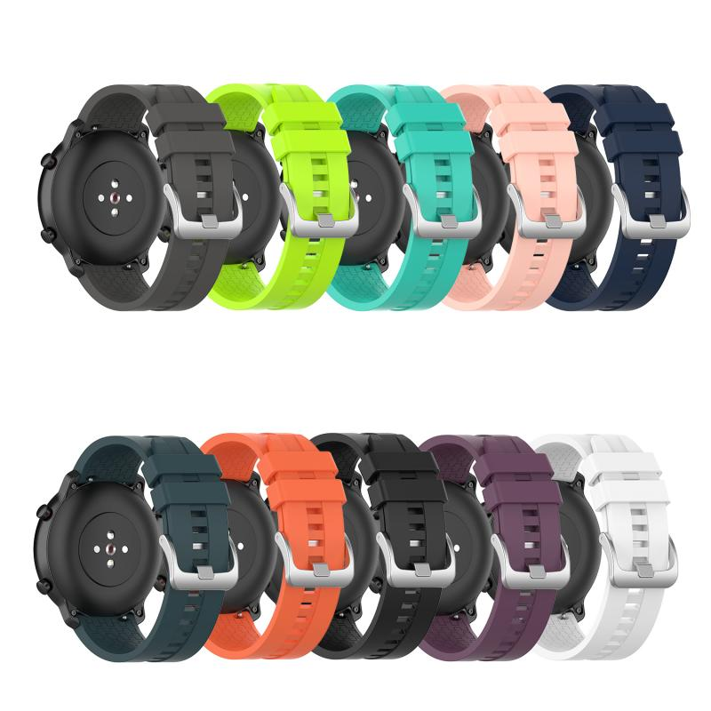 Steel Buckle Silicone Durable Strap Watch Silicone Strap Replacement Smart Band 22mm Width For Huami Amazfit GTR 47mm