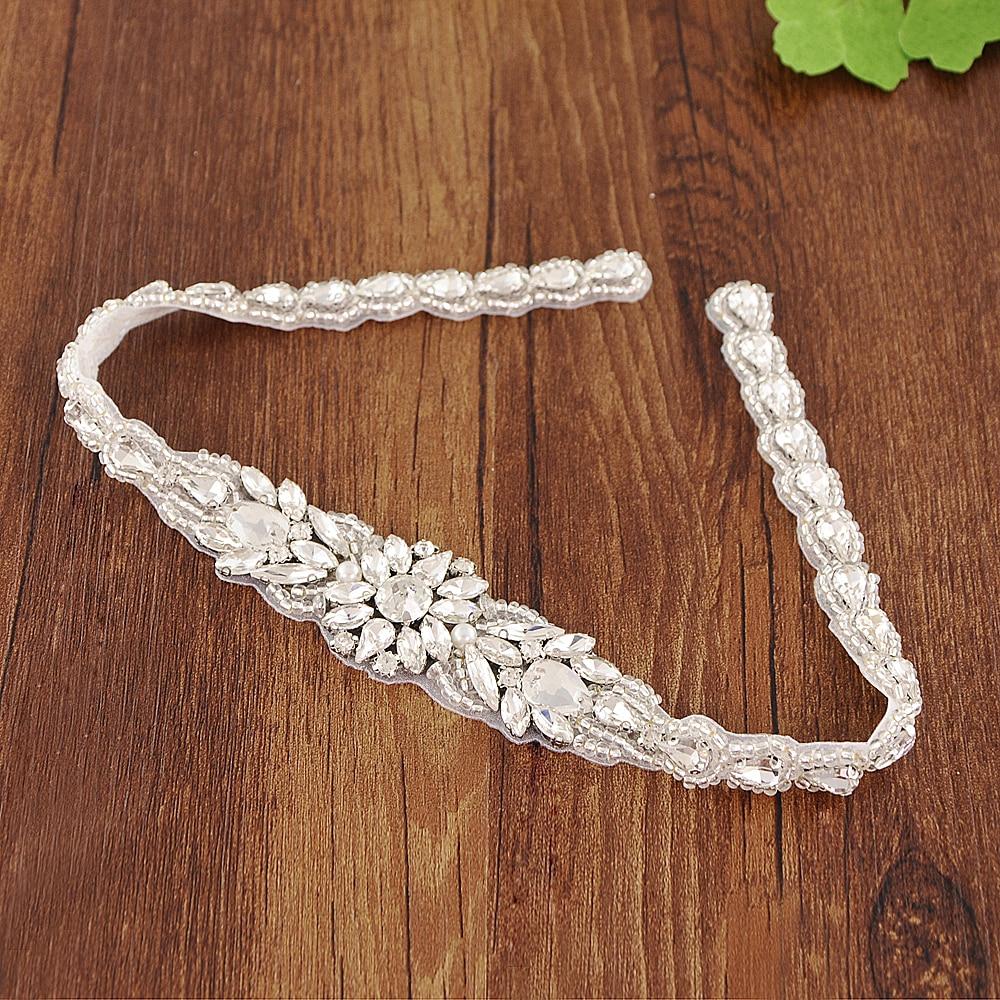 TRiXY S385 Crystal Rhinestone Wedding Belts Crystal Wedding Dress Belt Sashes Wedding Accessories Bridal Sash Belt