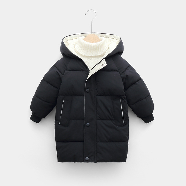 Sundae Angel Children Coat Winter Girls Down Cotton Padded Kids Hooded Solid Down Jacket For Boy Warm Child Outerwear Clothes 5