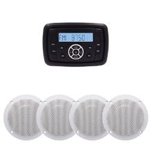 Waterproof Bluetooth Marine Media Stereo Receiver Car MP3 Pl