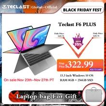 """Teclastใหม่ล่าสุดแล็ปท็อปF6 Plus 13.3 """"โน้ตบุ๊ค1920 × 1080 IPS Gemini Lake N4100 Windows10 8GB LPDDR4 256GB SSD 360 ° Rotation Touch"""