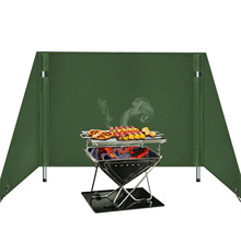 Plate Foldable Outdoor camping windshield Stove Wind Shield Gas Burner Windshield Wind Protector Picnic Camping Stove Windscreen
