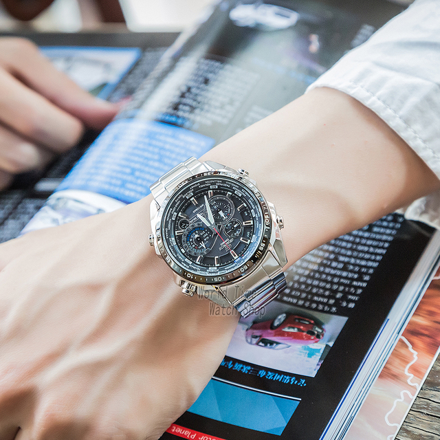 Casio Edifice montre hommes marque de luxe ensemble 100m étanche chronographe lumineux hommes montre militaire quartz montre-bracelet Racing montres Cadeaux montres de sport pour hommes Tough Solar horloges часы reloj