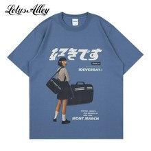 Japanese Streetwear Graphic Tshirt Women Oversized Harajuku Short Sleeve Tees Anime T-shirt Female Vintage T Shirt 2021 Summer