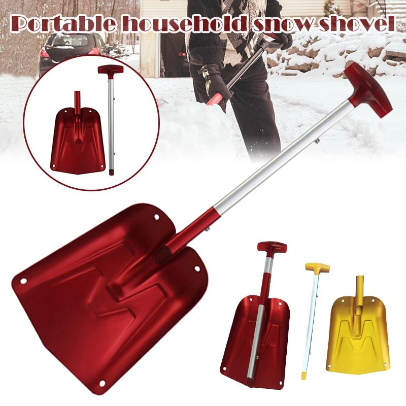 Newly Aluminum Alloy Telescopic Snow Shovel Detachable Non-slip Snow Removal Cleaning Tool BN99