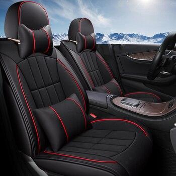 Eco-leather auto seats covers PU Leather flax fiber Car Seat Covers for Mazda cx5 cx4 cx7 cx9 mazda5 premacy