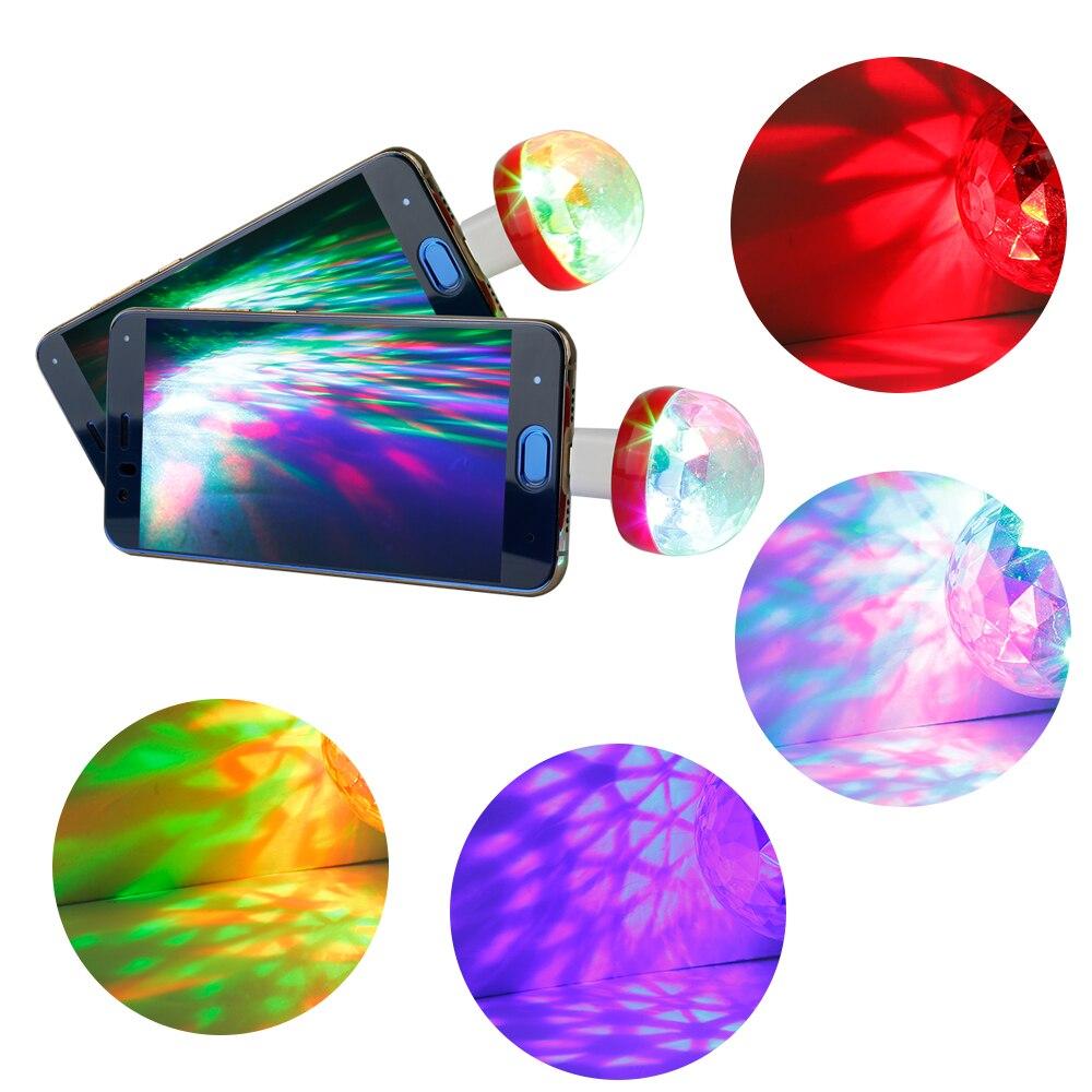 USB Mini Disco Light Ball Portable Led KTV Party Decor Lamp DJ Stage Bar BY2S